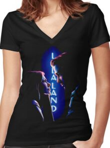 la la land Women's Fitted V-Neck T-Shirt