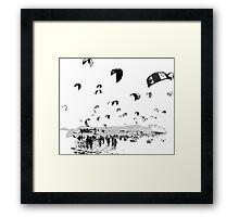 Kite Surfing Andalucia Framed Print