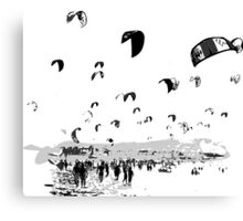 Kite Surfing Andalucia Canvas Print