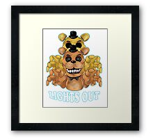 FIVE NIGHTS AT FREDDY'S-FREDDY-Lights Out Framed Print