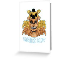 FIVE NIGHTS AT FREDDY'S-FREDDY-Lights Out Greeting Card