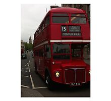 Double Decker Bus in Whitehall, London by Tony Lupton