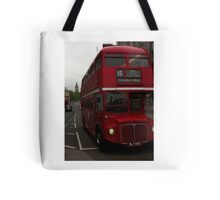 Double Decker Bus in Whitehall, London Tote Bag