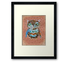 Quirky Owl 6 Framed Print