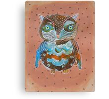 Quirky Owl 6 Canvas Print