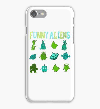 Kid-Drawn Funny Aliens Kids iPhone Case/Skin