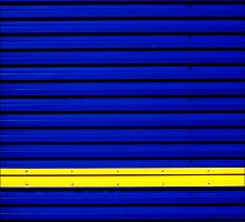 Stripe - Yellow on Blue by PaulBradley