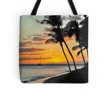 Hawaiian Sunset, Waikiki Beach, Honolulu Tote Bag
