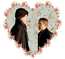 Johnlock Hearted Photographic Print