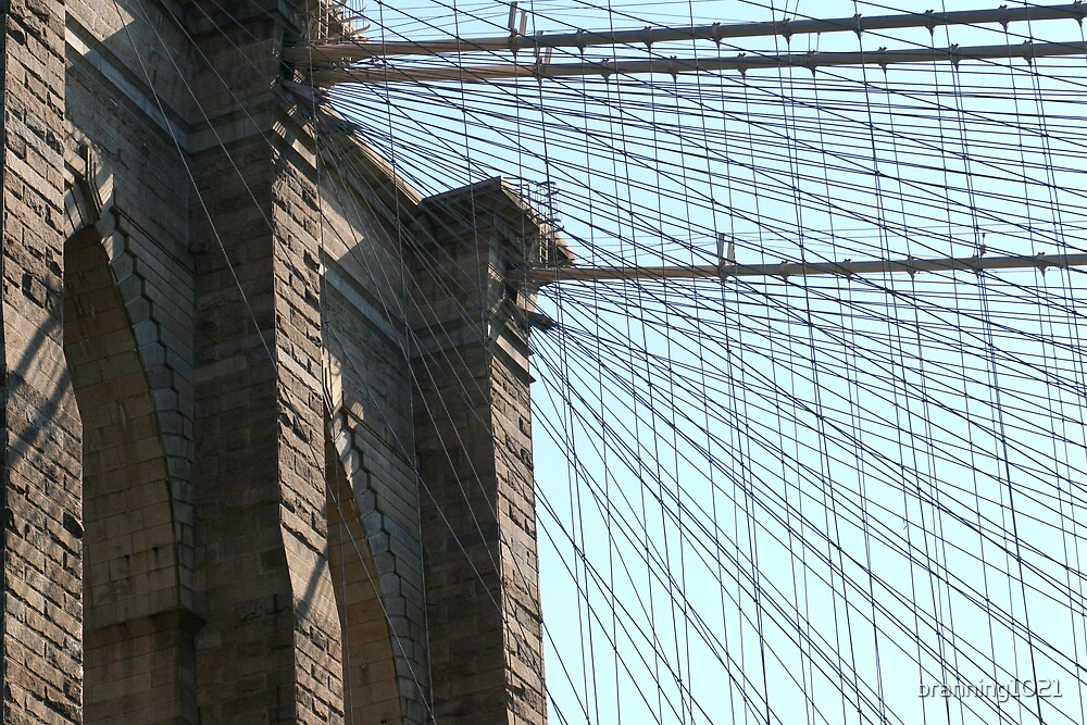 Brooklyn Bridge Close Up by branning1021