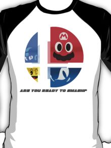 Are Ready to Smash? (Silhouette Var.) T-Shirt
