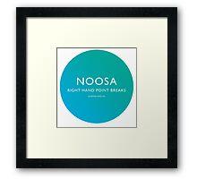 Noosa Surfing Framed Print