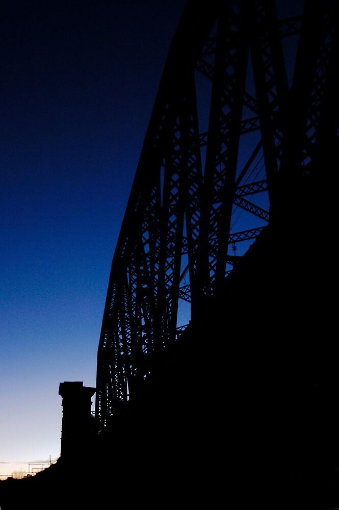 Rail Bridge on Dusk by John Barratt