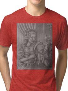 Lady with a Sauropod Tri-blend T-Shirt