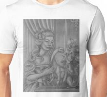 Lady with a Sauropod Unisex T-Shirt