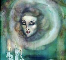 Let There Be Music - Madame Leota Haunted Mansion Art by Daniel Hirsch