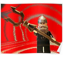 Mongolian Warrior Chief Custom Minifig Poster