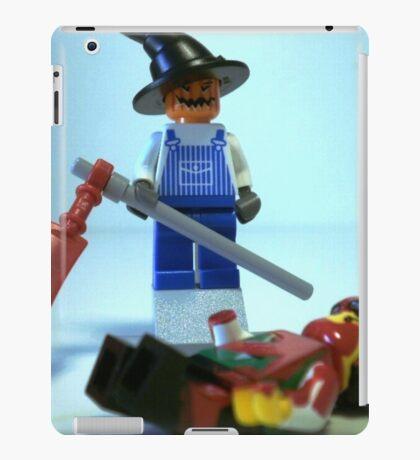 Scary Halloween Scarecrow Custom Minifig iPad Case/Skin
