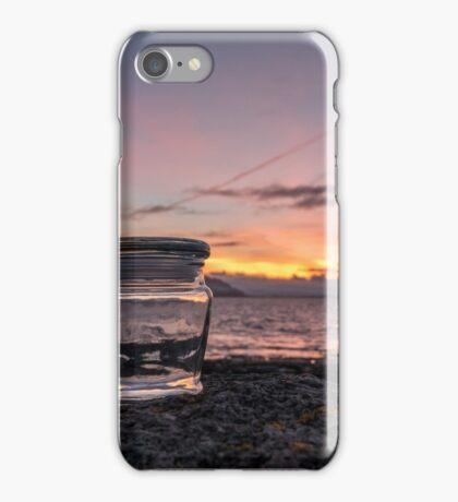 Icelandic sunrise in a jar. iPhone Case/Skin