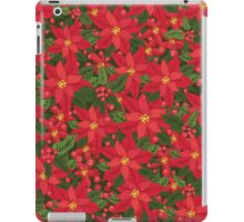 Red poinsettia Christmas pattern iPad Case/Skin
