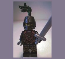 Dragon Knight Minifigure with Scale Mail with Chains, Helmet Closed, & green plume  Kids Clothes