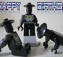 Happy Birthday Greeting Card of Custom Cyber Droid Shadow Soldier by Chillee