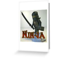 Black Ninja Custom Minifigure Greeting Card