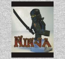 Black Ninja Custom Minifigure One Piece - Short Sleeve