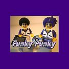 Funky Punky DJ Clubbing Tru & his Dad Disco Stu (with CD and Record)  by Customize My Minifig