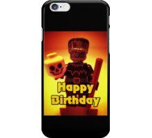 Happy Birthday Frankensteins Monster  iPhone Case/Skin