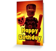 Happy Birthday Frankensteins Monster  Greeting Card