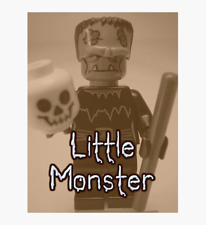Little Monster Frankensteins Monster Custom Minifig Photographic Print