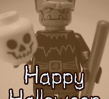 Happy Halloween Frankenstein's Monster Custom Minifigure 'Customize My Minifig' by Chillee