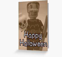Happy Halloween Frankenstein's Monster Custom Minifig Greeting Card
