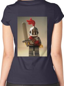 'Lion Knight Quarters' Minifig Women's Fitted Scoop T-Shirt