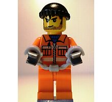City Convict Prisoner Minifig Minifigure with Handcuffs Photographic Print