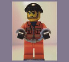 City Convict Prisoner Minifig Minifigure with Handcuffs Kids Clothes