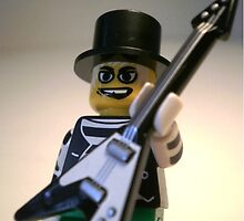Guitarist Custom Minifigure with Guitar, by 'Customize My Minifig' by Chillee
