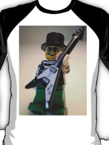 Guitarist Custom Minifigure with Guitar T-Shirt