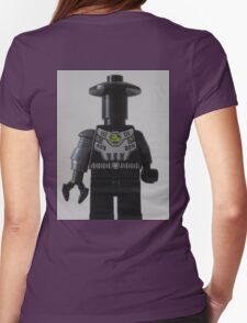 Custom Cyber Droid Shadow Soldier Minifig Womens Fitted T-Shirt