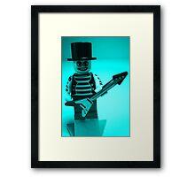 Guitarist Custom Minifigure with Guitar Framed Print