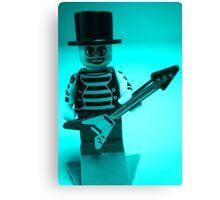 Guitarist Custom Minifigure with Guitar Canvas Print