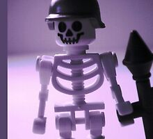 Skeleton Army Custom Minifigure Helmet & Bazooka by Chillee