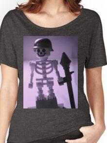 Skeleton Army Custom Minifigure Helmet & Bazooka Women's Relaxed Fit T-Shirt