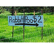 Rabbit Poo Photographic Print