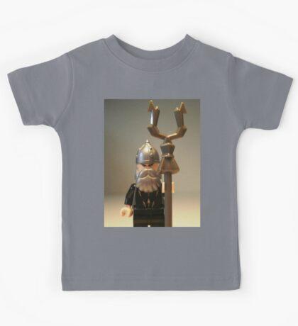 Mongolian Warrior Chief Custom Minifigure Kids Tee