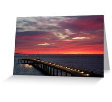 Sunrise Lorne Pier,Great Ocean Rd Greeting Card