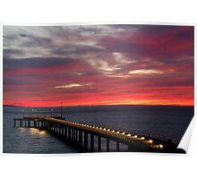 Sunrise Lorne Pier,Great Ocean Rd Poster