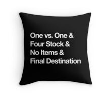 Super Smash Bros Pro Rules - Helvetica  Throw Pillow