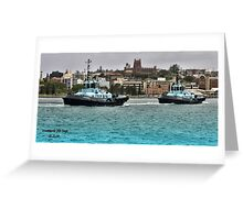 Newcastle PB Tugs Greeting Card